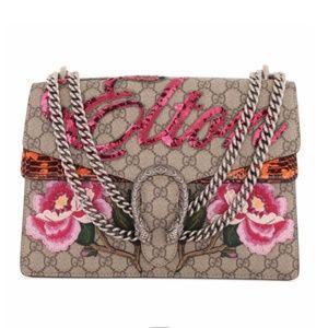 Gucci Dionysus GG Supreme Elton Python Medium Bag